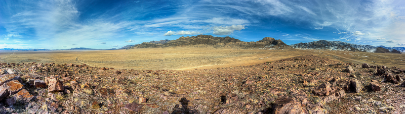 Panorama of the Wah Wah Mountains