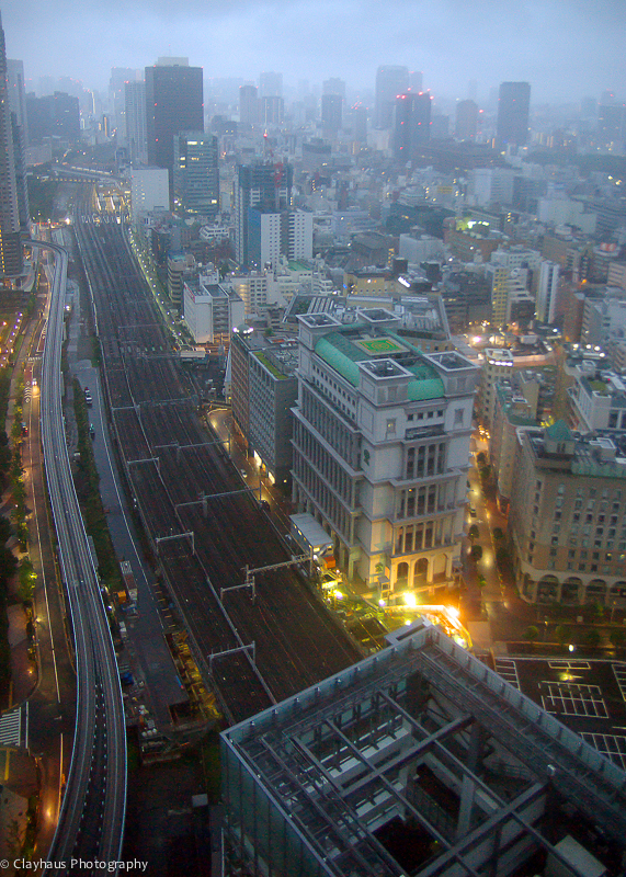 View from Park Hotel Tokyo, 32nd Floor