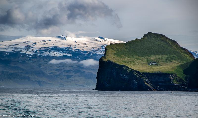 Elliðaey and Eyjafjallajökull beyond