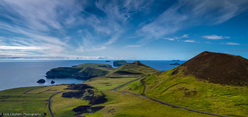 Iceland | Vestmannaeyjar, Helgafell Panorama