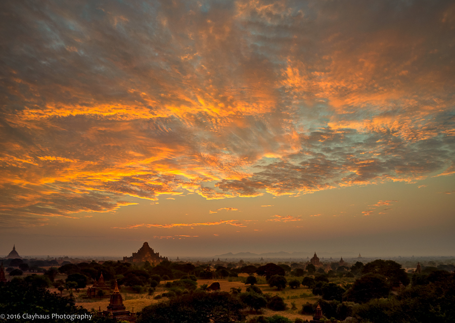 A Brief but Glorious Blaze of Fire over the Plains of Bagan